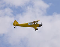Yello old time airplane Royalty Free Stock Images