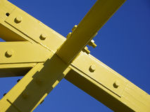 Yello timbers. Part of a framework of a wooden bridge in Disneland, Orlando Stock Photography