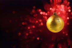 Yello Weihnachtskugel Stockfotografie