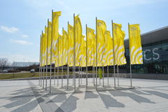 Yelloe flags Stock Images