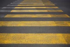 Yellow övergångsstället Royaltyfria Bilder