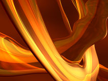 Yellow 3D abstract. Yellow  or flame glowing 3D abstract Royalty Free Stock Image