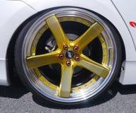 Yellow 5 Spoke Car Wheel Royalty Free Stock Image