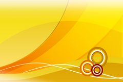 Yellow. Image of yellow background with circles Stock Image