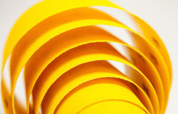 Yellow abrasive paper Stock Images