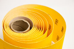 Yellow abrasive paper Royalty Free Stock Photography