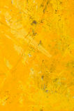 Yellow abstract acrylic painting. A yellow abstract acrylic background Royalty Free Stock Photos