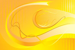 Yellow abstract background. The beautiful bright yellow abstract background, wall-paper Royalty Free Stock Photography