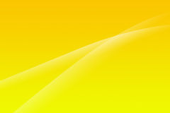 Yellow abstract background. With two smooth lines Royalty Free Stock Image