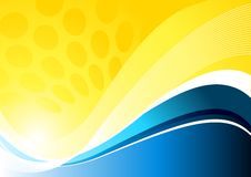 Yellow Abstract Background Royalty Free Stock Images