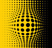 Yellow abstract background. Made from black dots vector illustration