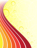 Yellow abstract background. With place for your text Royalty Free Stock Image