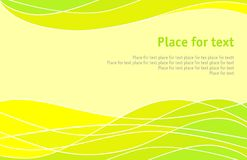 Yellow abstract background. Background with transition of yellow to the green Royalty Free Stock Photography