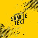 Yellow abstract background with black halftone effect. Vector Stock Photos