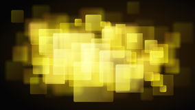 Yellow abstract background of blurry squares Royalty Free Stock Image