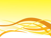 Yellow abstract background and curve design Royalty Free Stock Photo