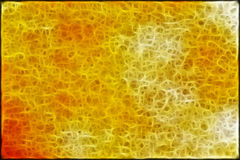 Yellow abstract background fractals Stock Images