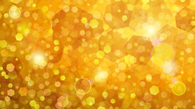 Yellow abstract background of small hexagons Stock Photos