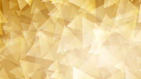 Yellow abstract background of small triangles Stock Image
