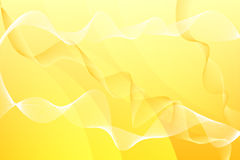 Yellow abstract background with waves. Line Stock Images