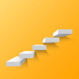Yellow abstract background with white stairs. Steps. Vector illustration Stock Photography
