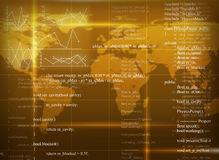 Yellow abstract background with world map Stock Photos