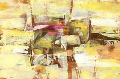 Yellow abstract backround. Abstract backround  handmade oil painting on canvas Stock Photos