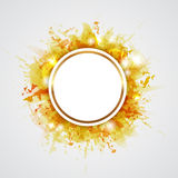 Yellow abstract backround Royalty Free Stock Photo