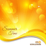 Yellow abstract bokeh vector background. EPS10 Stock Photography