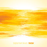 Yellow abstract bright colorful background digital painted brush Royalty Free Stock Images