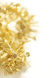 Yellow abstract Christmas decoration background Stock Photos