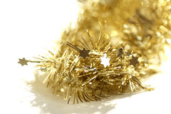 Yellow abstract Christmas decoration background Stock Images