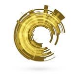 Yellow abstract circle. Raster. 1 Stock Image