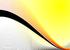 Yellow abstract design Royalty Free Stock Images