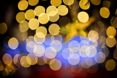 Yellow abstract festive bokeh baclground