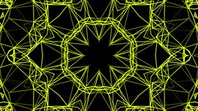 Yellow Abstract Kaleidoscope. 3d rendering. Yellow Abstract Kaleidoscope Background. 3d rendering stock video footage