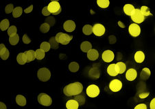Yellow abstract lights Royalty Free Stock Images
