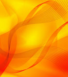 Yellow Abstract Lines. Shiny and beautiful yellow and red abstract lights and blended lines Royalty Free Stock Images