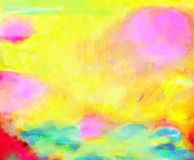 Yellow. Abstract painting that is dyed in yellow Royalty Free Stock Photo