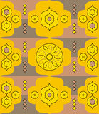 Yellow Abstract Pattern Royalty Free Stock Photo