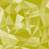 Yellow Abstract Polygonal Background. Stock Image
