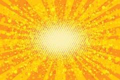 Free Yellow Abstract Pop Art Background, Retro Rays Stock Image - 82234371