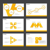 Yellow Abstract presentation template Infographic elements flat design set for brochure flyer leaflet marketing. Advertising Royalty Free Stock Photos