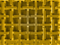 Yellow abstract prism structure Stock Image