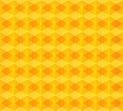 Yellow  abstract rhombus background Royalty Free Stock Photography