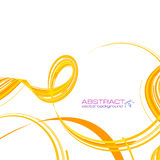 Yellow abstract ribbons vector background Stock Photography