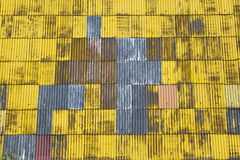 Yellow abstract roof background Stock Photography