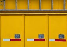 Yellow Abstract – side of emergency vehicle Stock Photo