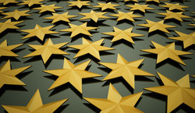 Yellow abstract stars background Royalty Free Stock Images
