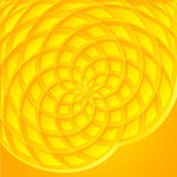 Yellow abstract sunflower vector background Stock Image